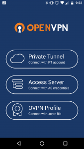 Image Showing the OpenVPN Load Screen for Android