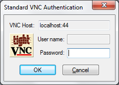 TightVNC login prompt