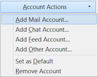 Go to Account Actions in lower-left corner and add mail account