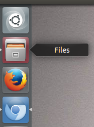 linux file browser on desktop sidebar (unity)