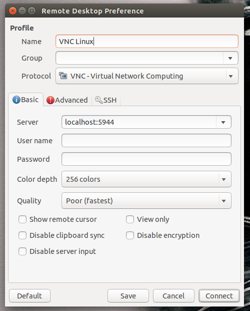 Secure VNC from Linux – Computer Action Team