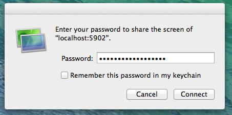 password box from VNC
