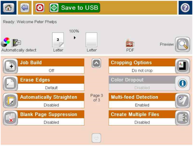 page3 of usb scan dialog page