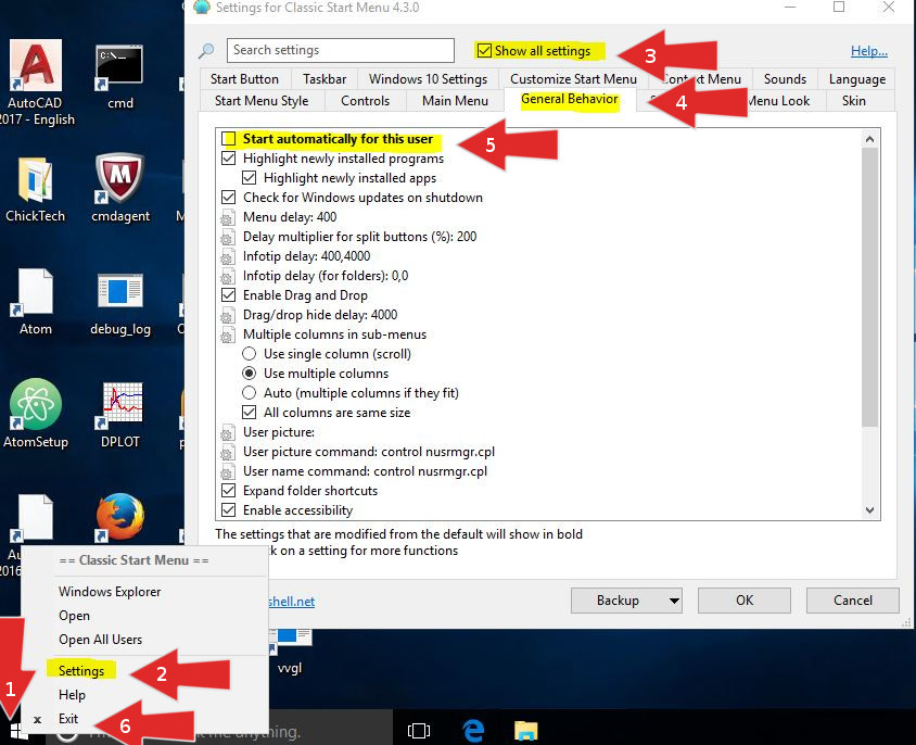Step-by-step clicks in Windows Explorer