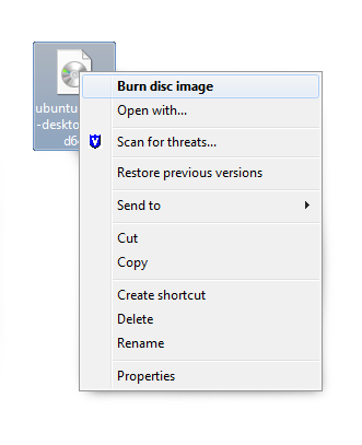 dvd burn disk popup menu for windows 7