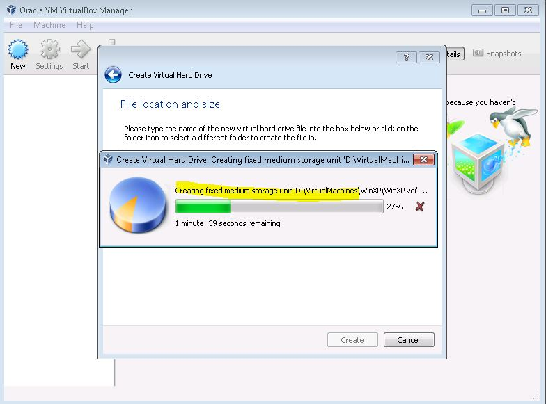 Image Showing the Network settings in VirtualBox