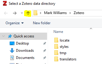Windows Explorer data directory screen shot