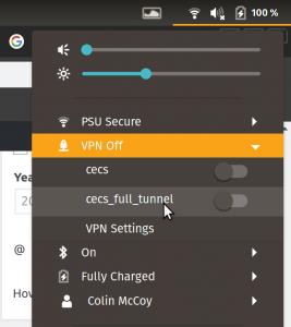 Shiny new VPN toggles in system tray