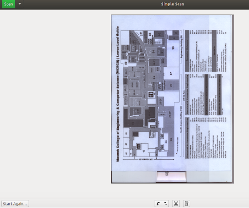 simple scan sample scanned