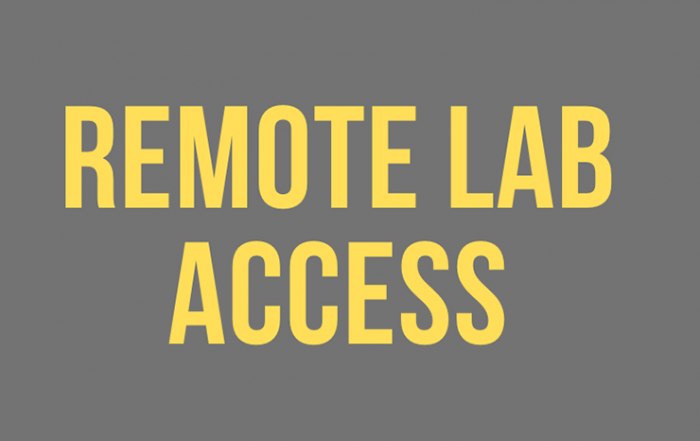 remote lab access title banner