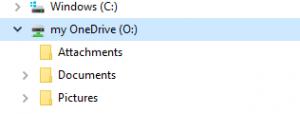 Drive in Network Locations menu