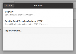 Ubuntu 20.04 Add VPN