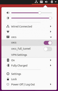 Ubuntu 20.04 MCECS OpenVPN Interface