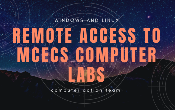 remote access to mcecs computer labs header graphic