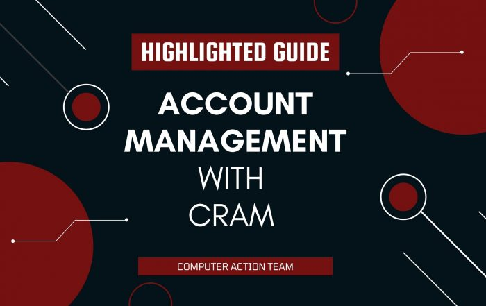 Account Management with Cram Highlighted Guide
