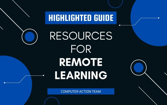 Resources for Remote Learning Highlighted Guide