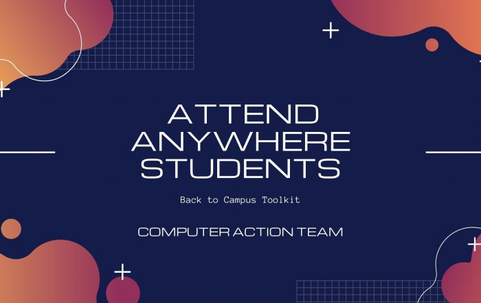 For new attend anywhere students title card