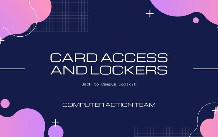 Card access and lockers title card