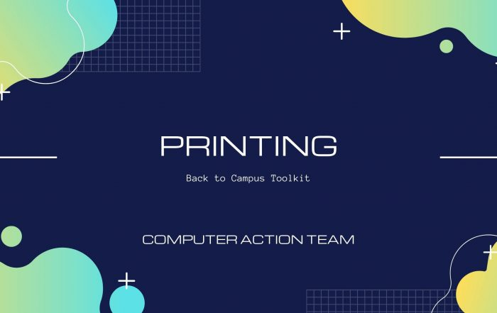 Printing in MCECS title card